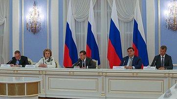 Встреча членов Совета палаты СФ сПредседателем Правительства РФ Д.Медведевым