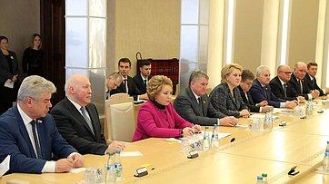 Встреча В.Матвиенко сПредседателем Совета Республики Национального собрания Республики Беларусь Н.Кочановой