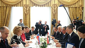 Встреча Председателя СФ сПредседателем Государственного собрания Венгрии