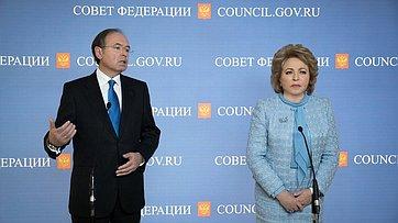 Встреча В. Матвиенко сглавой парламента Испании П. Гарсия-Эскудеро
