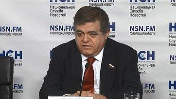 Владимир Джабаров принял участие впресс-конференции «Дипломатическая война: Россия отвечает Западу» впресс-центре Национальной Службы Новостей