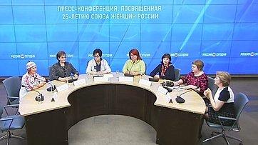 Екатерина Лахова приняла участие в пресс-конференции, посвященной 25-летию Союза женщин России, в Международном мультимедийном пресс-центре МИА «Россия сегодня»
