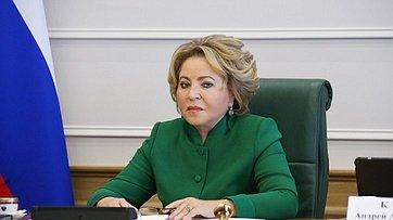Выступление Валентины Матвиенко назаседании Совета при Председателе СФ повзаимодействию синститутами гражданского общества