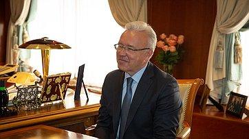 Встреча В.Матвиенко сгубернатором Красноярского края