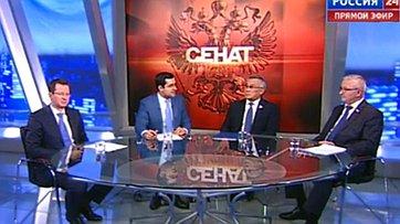 Проблемы космической отрасли. Программа «Сенат» телеканала «Россия 24»