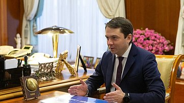 Встреча В.Матвиенко сгубернатором Мурманской области А.Чибисом