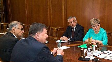 Встреча В.Матвиенко сруководством Забайкальского края