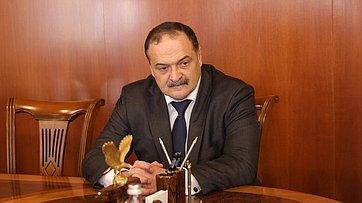 Встреча Валентины Матвиенко сруководителем Республики Дагестан