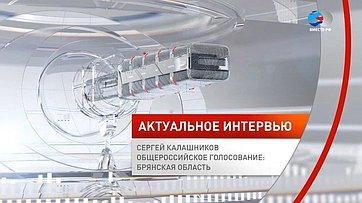Сергей Калашников. Общероссийское голосование: Брянская область
