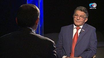 В. Озеров онациональной обороне иобщественной безопасности впередаче телеканала «Вместе-РФ» Ключевой вопрос
