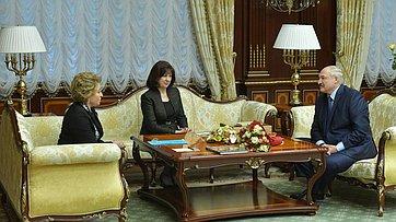 Встреча В.Матвиенко сПрезидентом Республики Беларусь А.Лукашенко
