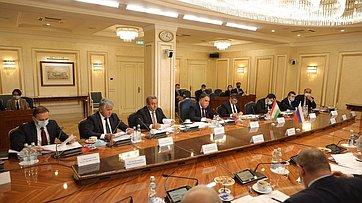 Заседание Комиссии посотрудничеству Совета Федерации иМаджлиси милли Маджлиси Оли Республики Таджикистан. Запись трансляции от25ноября 2020года