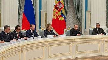 Выступление Председателя СФ навстрече сПрезидентом РФ В.Путиным