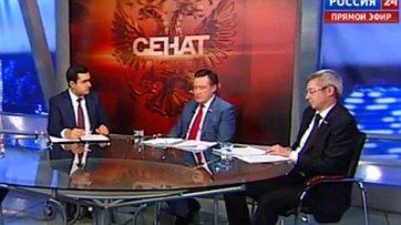 Закон против коллекторов. Программа «Сенат» телеканала «Россия 24»