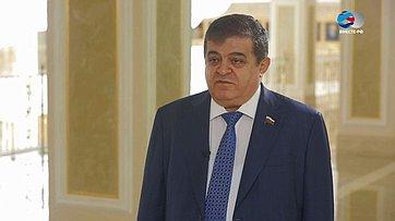 В. Джабаров обучастии делегации Совета Федерации в27-ойПарламентской ассамблее ОБСЕ