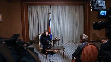 Брифинг В. Матвиенко поитогам визита вСаудовскую Аравию