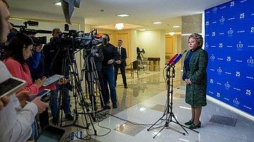 В. Матвиенко опланах Совета Федерации пореализации Послания Президента