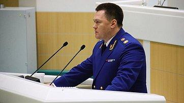 И. Краснов представил назаседании Совета Федерации Доклад осостоянии законности иправопорядка вРФ