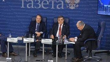 Владимир Джабаров принял участие вработе «круглого стола» потеме «Китай: тактика истратегия вторговой войне сСША» впресс-центре «Парламентской газеты»