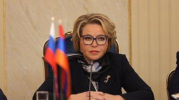 Встреча Председателя СФ Валентины Матвиенко сПредседателем Национального Собрания Республики Армения Аленом Симоняном