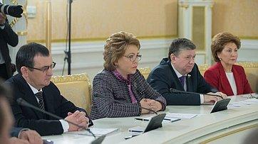 Выступление В.Матвиенко навстрече сПредседателем правительства РФ Д.Медведевым