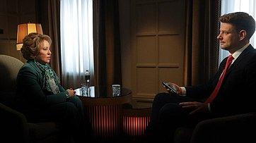 Интервью ВалентиныМатвиенко телеканалу «Россия 24»