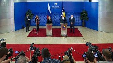 Заявление для прессы В.Матвиенко иО.Тадича
