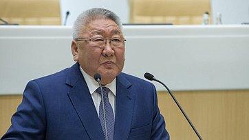 На425-м заседании СФ выступил глава Якутии Е.Борисов
