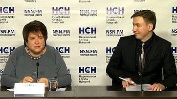 Любовь Глебова приняла участие в брифинге, посвященном итогам выборов в Молдавии  в пресс-центре информационного агентства «Национальная служба новостей»
