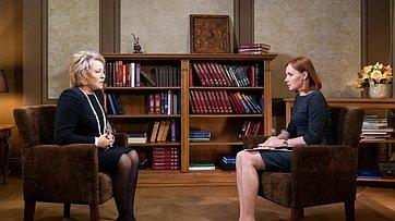 Интервью В. Матвиенко телеканалу «Россия 24»