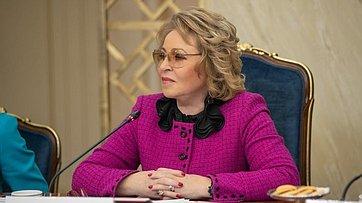 Выступление В.Матвиенко навстрече сженщинами– участницами конкурса «Лидеры России»