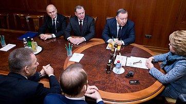 Встреча спикера СФ с руководством Алтайского края