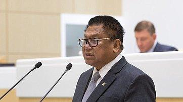 Выступление Председателя Совета представителей регионов Народного консультативного конгресса Индонезии У.Сапты