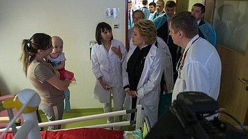 В. Матвиенко опосещении Национального научно-практического центра детской гематологии, онкологии ииммунологии имени Д.Рогачева