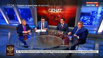 Послание Президента РФ. Программа «Сенат» телеканала «Россия 24»