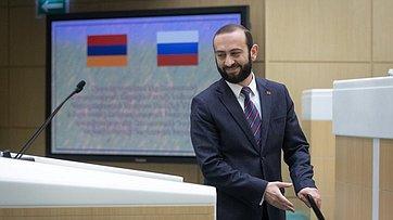 Выступление Председателя Национального Собрания Республики Армения А.Мирзояна