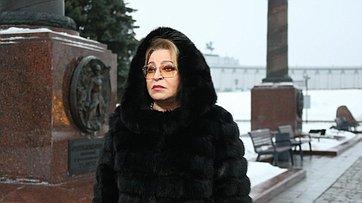 Валентина Матвиенко: 27января— Ленинградский День Победы, когда мы вспоминаем всех тех, кто отдал свои жизни засвободу страны, засвободу города