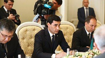 Встреча В. Матвиенко спредседателем Комитета позаконодательству Меджлиса Туркменистана С.Бердымухамедовым