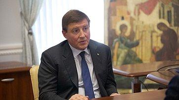 Встреча Председателя СФ В.Матвиенко сгубернатором Псковской области А.Турчаком