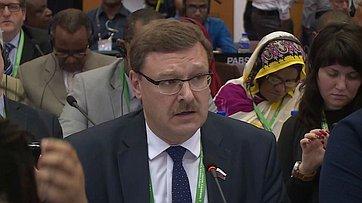 Выступление К.Косачева на136-й Ассамблее МПС