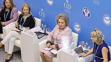 Выступление В.Матвиенко наПетербургской встрече– открытом заседании «Женской двадцатки» врамках Второго Евразийского женского форума