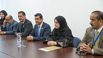 Встреча Председателя СФ В.Матвиенко сПредседателем Федерального национального совета ОАЭ Амаль Аль-Кубейси