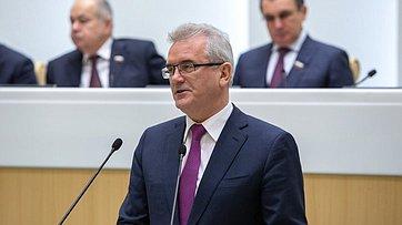 Выступление губернатора Пензенской области И.Белозерцева ипредседателя регионального заксобрания В.Лидина