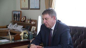 Встреча В.Матвиенко сгубернатором Брянской области А.Богомазом