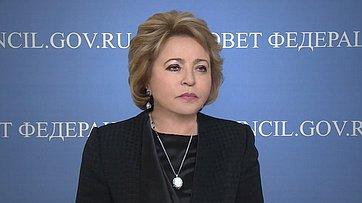В. Матвиенко: Большинство стран-участников МПС поддержали проведение 137-й Ассамблеи организации вСанкт-Петербурге