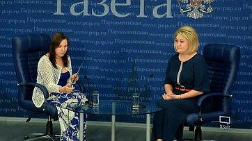 Лилия Гумерова приняла участие вбрифинге «Что будет сгосударственной программой строительства новых школ?» впресс-центре «Парламентской газеты»