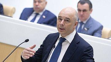 Выступление Министра финансов РФ А.Силуанова на438-м заседании Совета Федерации