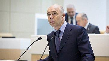 Выступление Министра финансов РФ А.Силуанова назаседании Совета Федерации