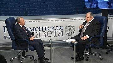 Виталий Шуба принял участие ввидеоинтервью «Нужнали России налоговая реформа?» впресс-центре «Парламентской газеты»