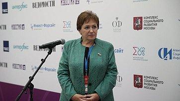 Брифинг Елены Бибиковой входе четвертого Форума социальных инноваций регионов